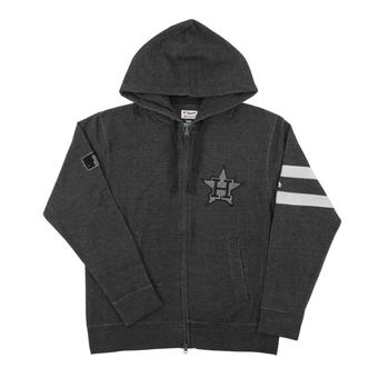 Houston Astros Majestic Gray Clubhouse Fleece Full Zip Hoodie (Adult XX-Large)