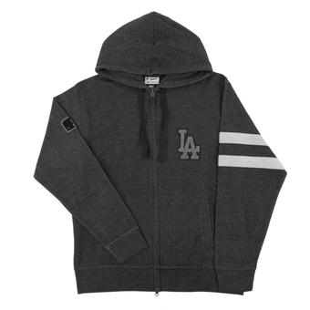 Los Angeles Dodgers Majestic Gray Clubhouse Fleece Full Zip Hoodie (Adult XX-Large)