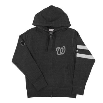 Washington Nationals Majestic Gray Clubhouse Fleece Full Zip Hoodie (Adult Large)