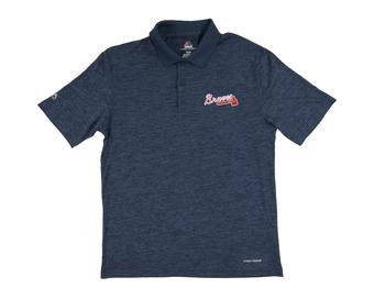 Atlanta Braves Majestic Endless Flow Navy Performance Polo