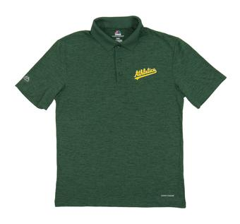 Oakland Athletics Majestic Endless Flow Green Performance Polo
