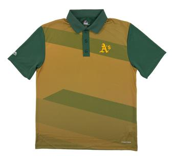 Oakland Athletics Majestic Late Night Prize Green Performance Polo (Adult X-Large)
