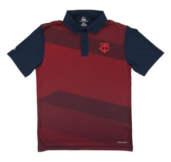Minnesota Twins Majestic Late Night Prize Red Performance Polo (Adult Small)