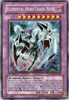 Yu-Gi-Oh Gladiator's Assault Single Elemental Hero Chaos Neos Secret Rare