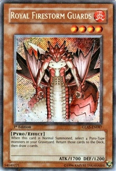 Yu-Gi-Oh Gladiator's Assault Single Royal Firestorm Guards Secret Rare