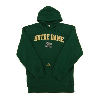 Notre Dame Fighting Irish Adidas Green Game Day Fleece Hoodie (Adult S)
