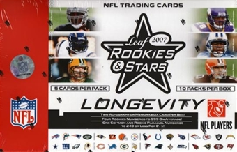 2007 Leaf Rookies & Stars Longevity Football Hobby Box