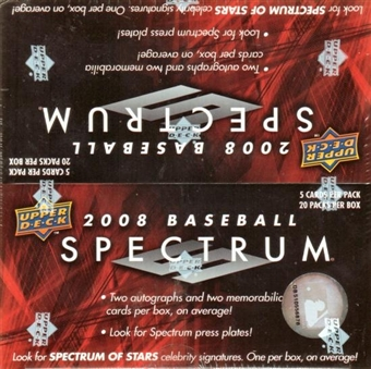 2008 Upper Deck Spectrum Baseball Hobby Box