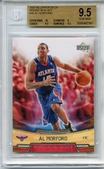 2007/08 Upper Deck NBA Rookie Box Set #16 Al Horford Rookie Card BGS 9.5 Gem Mint