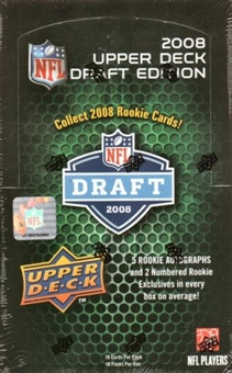 2008 Upper Deck Draft Edition Football Hobby Box
