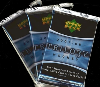 2007/08 Upper Deck Trilogy Hockey Hobby Pack