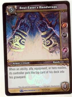 WoW Magtheridon Singles 4x Soul-Eater's Handwraps (MAG-5) FOIL