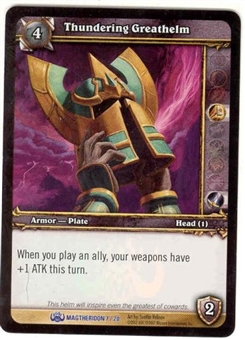 WoW Magtheridon Singles 4x Thundering Greathelm (MAG-7) FOIL
