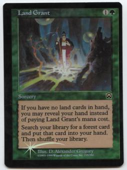 Magic the Gathering Mercadian Masques Single Land Grant Foil