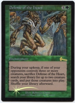 Magic the Gathering Urza's Legacy Single Defense of the Heart FOIL NEAR MINT