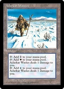 Magic the Gathering Ice Age Single Adarkar Wastes - SLIGHT PLAY (SP)