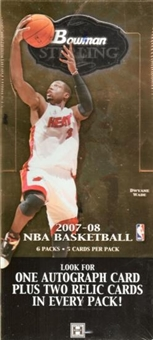 2007/08 Bowman Sterling Basketball Hobby Box
