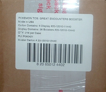 Pokemon Diamond & Pearl Great Encounters Booster 6-Box Case