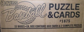 1987 Donruss Baseball Factory 15 Set Case