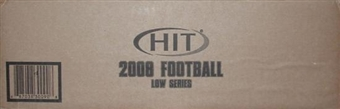 2008 Sage Hit Football Low Series Hobby 16-Box Case