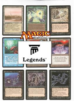 Magic the Gathering Legends Complete Set - NEAR MINT TO MODERATE PLAY (NM - MP)
