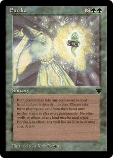 Magic the Gathering Legends Single Eureka MODERATE PLAY (VG/EX)