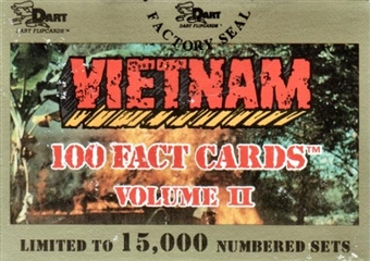 Vietnam Fact Cards Series 2 Factory Set (1991 Dart Flipcards)
