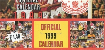 1999 Arsenal Calendar Soccer Hobby Box