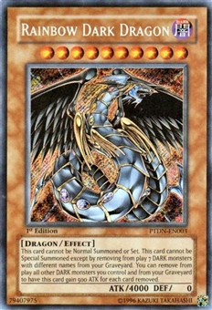 Yu-Gi-Oh Phantom Darkness Single Rainbow Dark Dragon Secret Rare