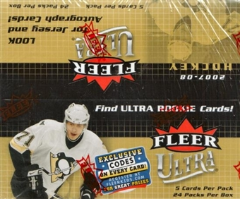 2007/08 Fleer Ultra Hockey 24-Pack Box