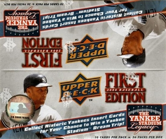 2008 Upper Deck 1st Edition Baseball 36-Pack Box