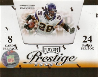 2008 Playoff Prestige Football Hobby Box