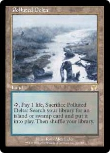 Magic the Gathering Onslaught Single Polluted Delta - MODERATE PLAY (MP)
