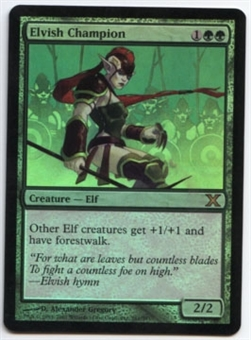 Magic the Gathering 10th Edition Single Elvish Champion FOIL