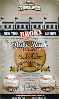 2008 TriStar Hidden Treasures New York Bronx Baseball Hobby Box