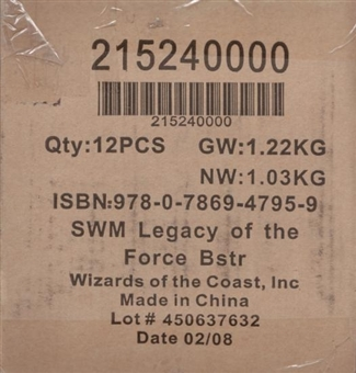 WOTC Star Wars Miniatures Legacy of the Force Booster Case (12Ct)