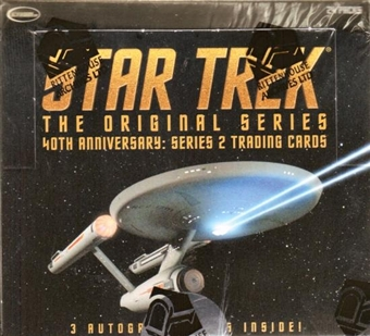 Star Trek 40th Anniversary Series 2 Trading Cards Box (Rittenhouse 2008)
