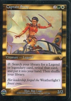 Magic the Gathering Invasion Single Captain Sisay FOIL
