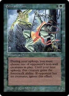 Magic the Gathering Arabian Nights Single Erhnam Djinn - NEAR MINT (NM)