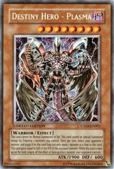 Yu-Gi-Oh Limited Edition Tin Single Destiny Hero-Plasma Secret Rare CT04