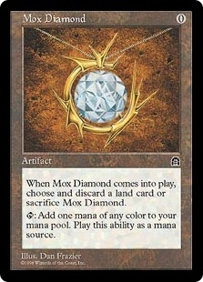 Magic the Gathering Stronghold Single Mox Diamond - MODERATE PLAY (MP)