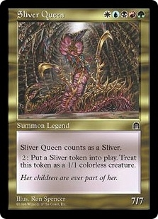Magic the Gathering Stronghold Single Sliver Queen - SLIGHT PLAY (SP)