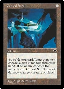 Magic the Gathering Tempest Single Cursed Scroll - SLIGHT PLAY (SP)