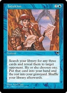 Magic the Gathering Tempest Single Intuition - SLIGHT PLAY (SP)