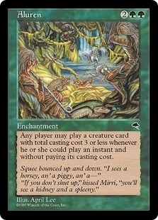 Magic the Gathering Tempest Single Aluren - SLIGHT PLAY (SP)