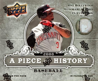 2008 Upper Deck Piece Of History Baseball Hobby Box