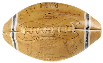 1963 Buffalo Bills Team Signed Autographed Football Kemp, Gilchrist, ++