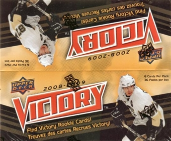 2008/09 Upper Deck Victory Hockey Hobby Box