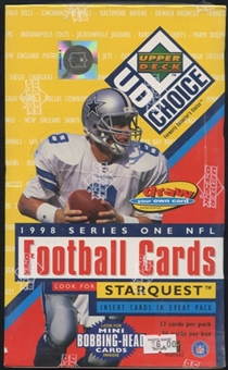 1998 Upper Deck Choice Series 1 Football Hobby Box