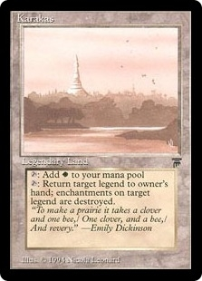 Magic the Gathering Legends Single Karakas MODERATE PLAY (VG-EX)